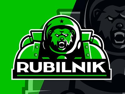 rubilnik sticker vector logo design space bear esport twitch logo