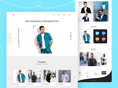 Man Fashion UI design ui adobe illustration vectorart website design creative design artwork trendy