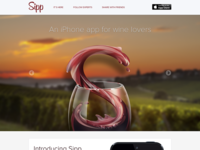 Sipp iPhone App - Web Page