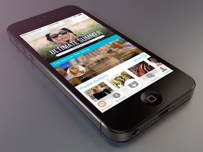 iPhone Discovery Interface iphone ios retina ios7 discover strum apple application