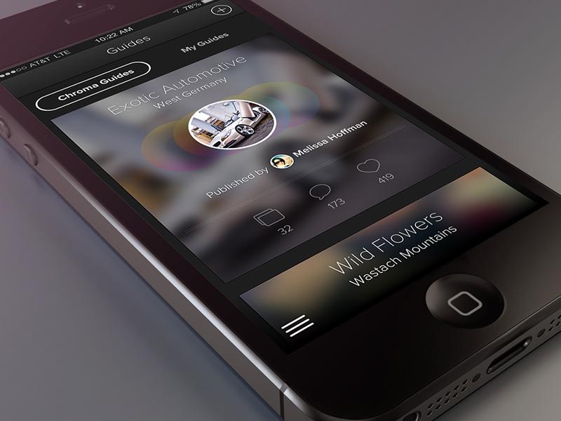 iPhone App - Guides guides app ios application ios7