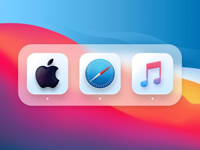 Big Sur Mac Icons neomorphism glossy icons mac os