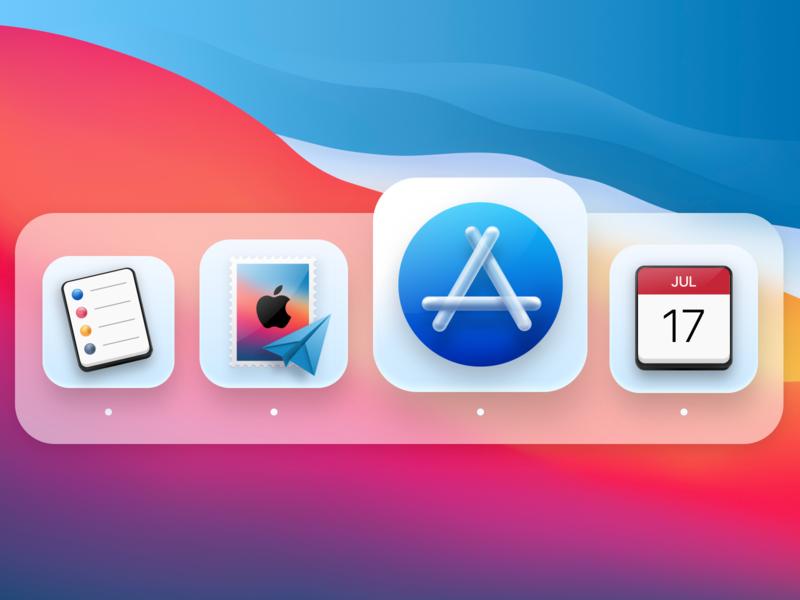 More Big Sur Mac Icons illustration ui interface neumorphic icons macos