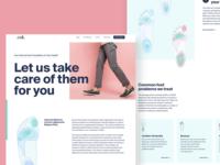 Foot Solutions Site Is LIVE web branding interface landing app ios illustration booking app ui ux retail design website