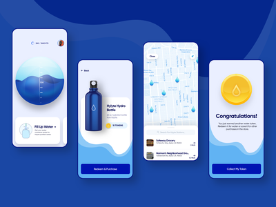 Hylyte Water iOS App application illustration mobile web app design 3d iphone interface ux ui ios app