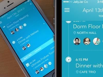 iPhone App - Agenda Screen