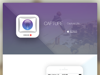 Capture iPhone App Landing Page