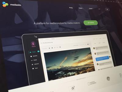 Website For Mediasilo website web app retina landing marketing
