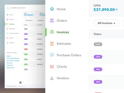 Billing & Order Tracking System retina invoicing billing dashboard app desktop