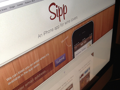 Sipp App for iPhone! iphone application ios mobile web signup mensch