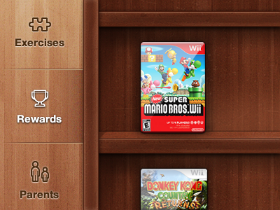 iPad Shelf ios ipad apple mobile tablet wood shelf games