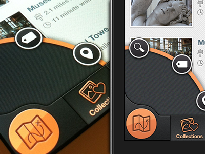 iPhone Search Type Nav  (Path Inspired) ios retina iphone app apple application path ripp off