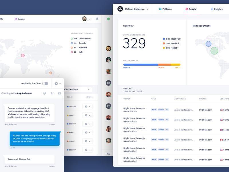 Analytics People Interface data chart ux ui analytics interface dashboard