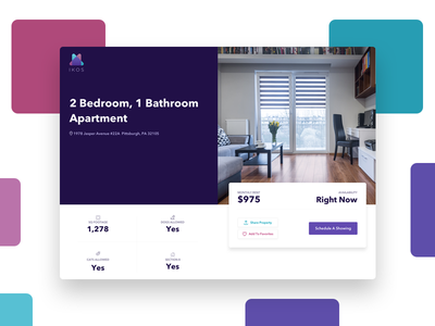 Property Detail View For Ikos real estate rent property page web marketing ux ui