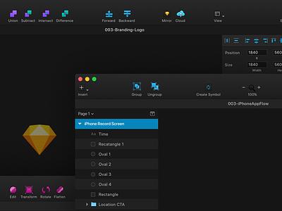 Sketch Dark Theme Plugin ux layout vector ui interface tool dark sketch
