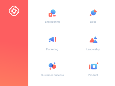 Loom Use Case Category Icons illustration icon layout web ui abstract icons