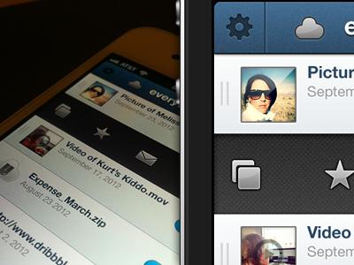Cloud iOS WIP ios iphone cloud list