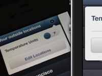 iOS Weather Temp Unit Slider