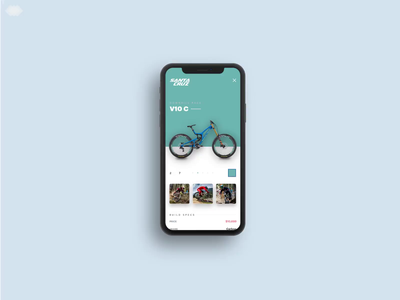 Santa Cruz Bike Picker store principal ui  ux design animation