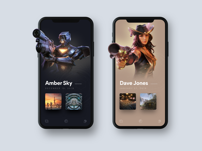 VR mobile previews mobile illsutration game art game ui  ux ui iphone vr app