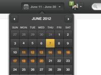 Calendar Date Range Picker