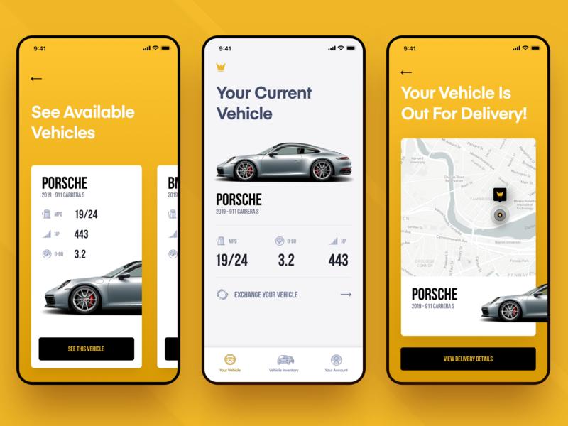 Eleanor iOS Car App apple illustration ui  ux ui mobile app car app iphone ios