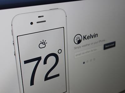 Kelvin Weather iPhone App Web Page ios web landing site weather app iphone