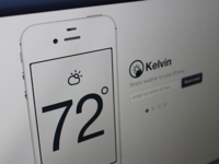 Kelvin Weather iPhone App Web Page