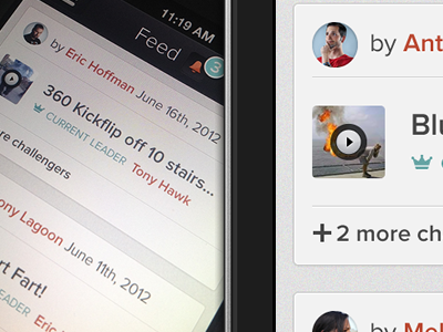iOS following feed