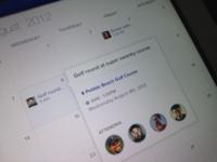 """iPad Calendar app for """"..."""""""