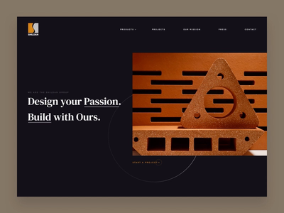 Shildan Group Concept Homepage marketing site uiux ui animation website