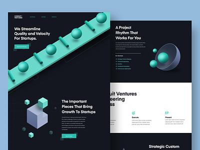 Conduit Ventures Website startup ui landing page illustration 3d art developer marketing site website