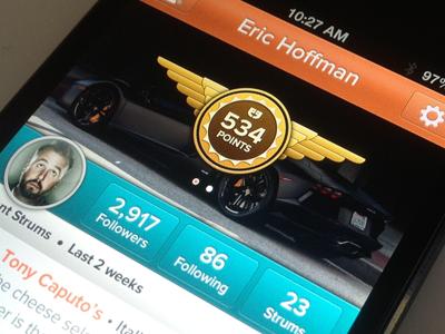 iPhone - Rewards Profile iphone ios retina ui ux apple app mobile