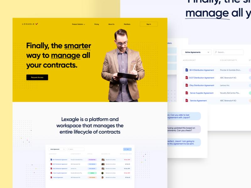 Contract Management Website ux dashboard ui landing page website