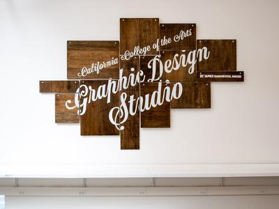 CCA Graphic Design Studio sign