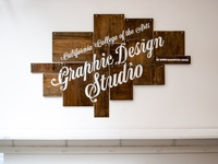 CCA Graphic Design Studio sign