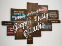 CCA Graphic Design Studio sign (flipped)