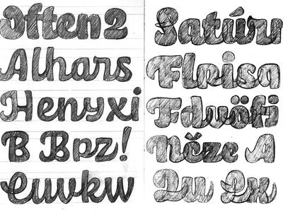 Hobeaux Script sketches