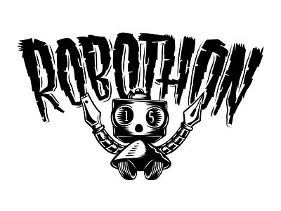 Robothon 2015 Logo illustration lettering