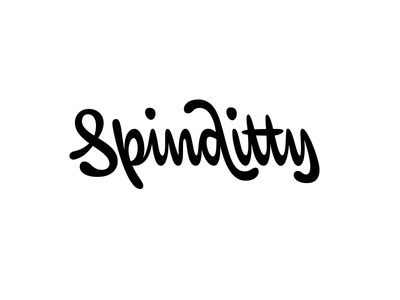 Spinditty logotype logotype backslant lettering