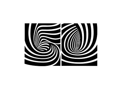 50 op-art lettering