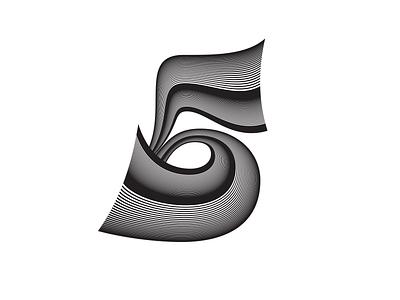 Inline 5 op-art lettering
