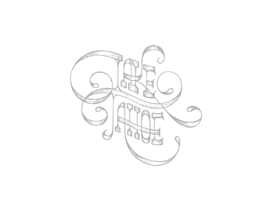 Booked a cabin in snow capitals lettering hand drawn