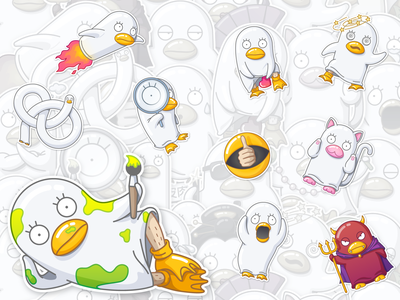 Elizabeth stickers for Telegram vector duck gintama telegram stickerpack stickers illustration character cartoon