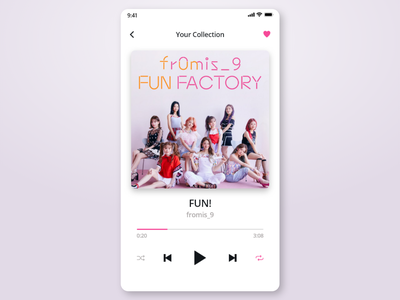 Daily UI Challenge #009 fromis-9 music player music app music dailyui 009 dailyui app design ux ui adobexd