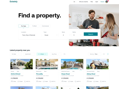 Real Estate Landing Page figma real estate ui estate agent real estate realtor