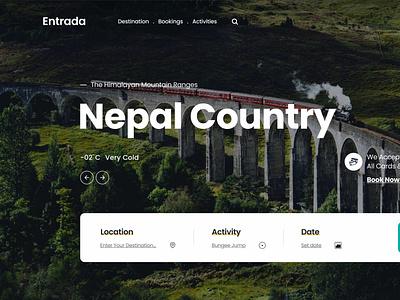 Tour Site Header design xd trave tourism tour