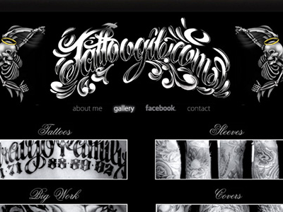 Responsive Website Design for Tattoo Artist by Thomas Wicker on Dribbble