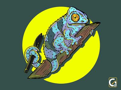 Camaleón illustration