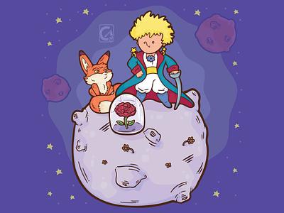 The Little Prince fanart book illustration art vector